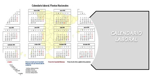 Calendario Laboral 2020 Madrid Capital.Calendarios Laborales Calendarios Laborales Y De Dias